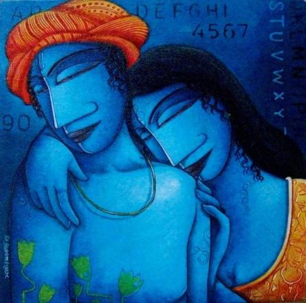 Love II | Painting by artist Samir Sarkar | acrylic | Canvas