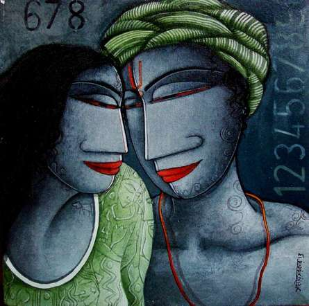 Love I | Painting by artist Samir Sarkar | acrylic | Canvas