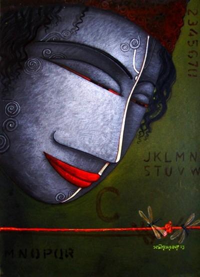 The Man | Painting by artist Samir Sarkar | acrylic | Paper