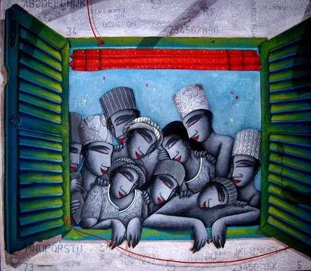 Love Window | Painting by artist Samir Sarkar | acrylic | Canvas