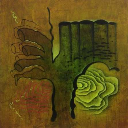 Abstract Fingers | Painting by artist Santosh More | oil | Canvas