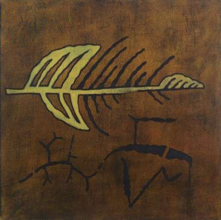 Abstract Arrow   Painting by artist Santosh More   oil   Canvas
