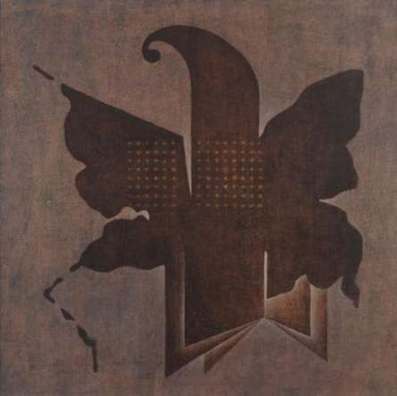 Abstract Oil Art Painting title 'Brown Fold Abstract' by artist Santosh More