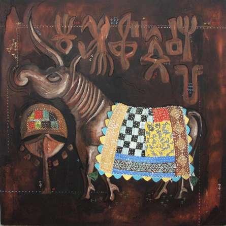 Indus 2010 | Painting by artist Ramchandra Kharatmal | acrylic | Canvas