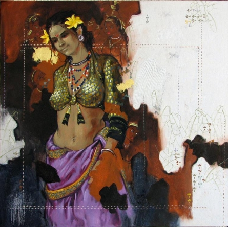 Beauty 16 | Painting by artist Ramchandra Kharatmal | acrylic | Canvas