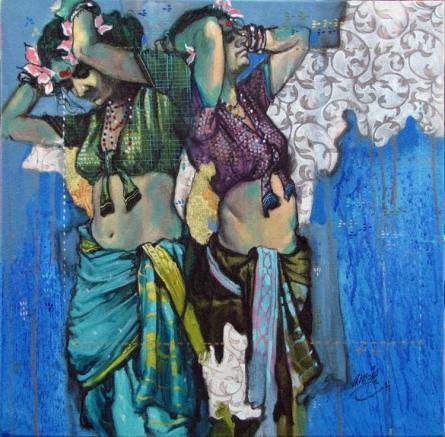 Beauty 18 | Painting by artist Ramchandra Kharatmal | acrylic | Canvas