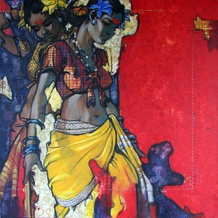 Beauty 15 | Painting by artist Ramchandra Kharatmal | acrylic | Canvas