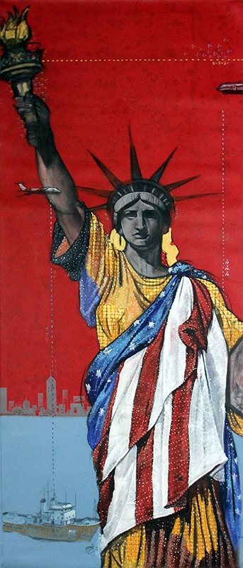 My Liberty | Painting by artist Ramchandra Kharatmal | acrylic | Canvas