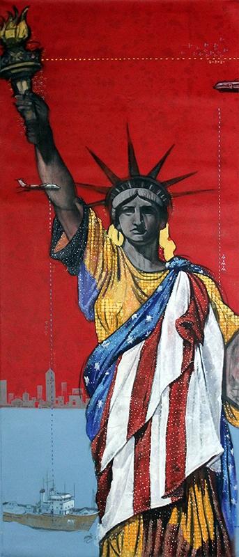 My Liberty | Painting by artist Ramchandra Kharatmal | acrylic | Canvas