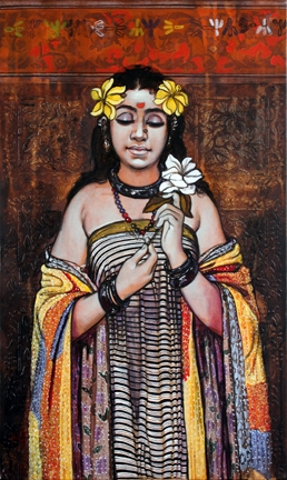 Peace Beauty | Painting by artist Ramchandra Kharatmal | acrylic | Canvas