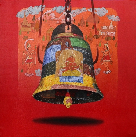 Bell | Painting by artist Ramchandra Kharatmal | acrylic-oil | Canvas
