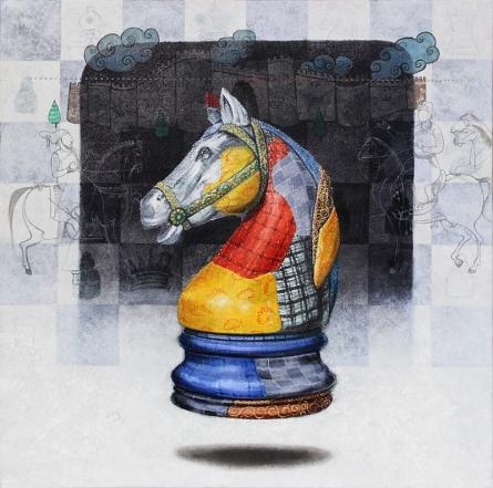 Beautiful Memory 7   Painting by artist Ramchandra Kharatmal   acrylic-charcoal   Paper