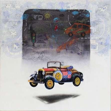 Beautiful Memory 8 | Painting by artist Ramchandra Kharatmal | acrylic-charcoal | Paper