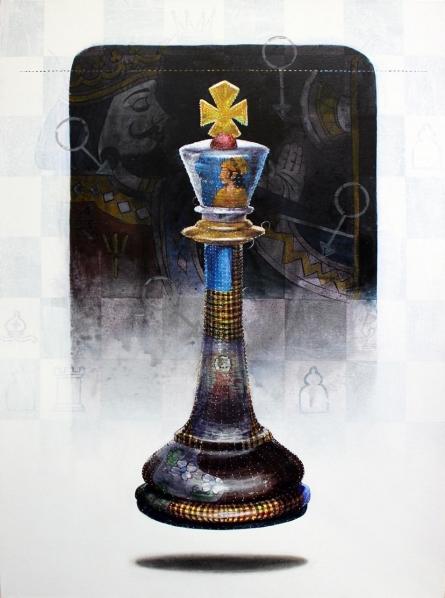 Still-life Acrylic Art Painting title 'Memories 3' by artist Ramchandra Kharatmal