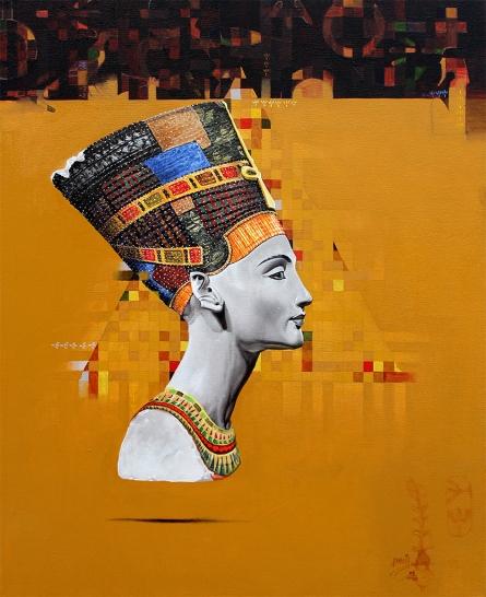 art, painting, oil, canvas, figurative