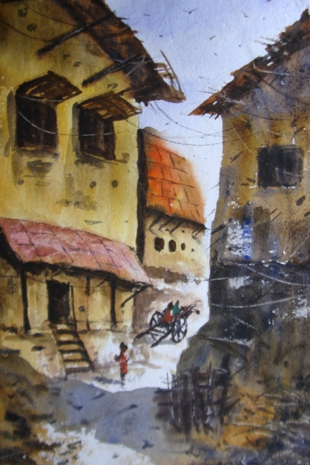 MORNING LIGHT | Painting by artist Anirban Seth | watercolor | Paper