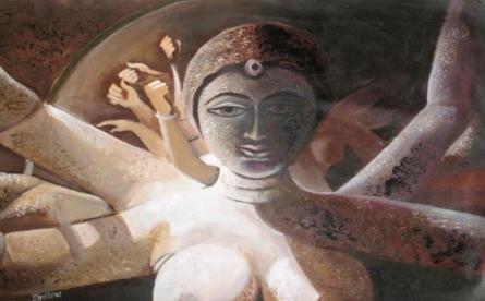 Aadya Pujor | Painting by artist Sadhna Tiwari | acrylic | Canvas