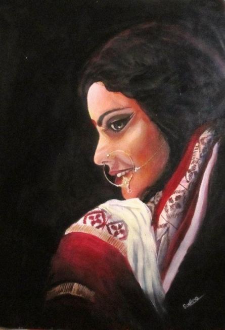 Anupama | Painting by artist Sadhna Tiwari | acrylic | Canvas