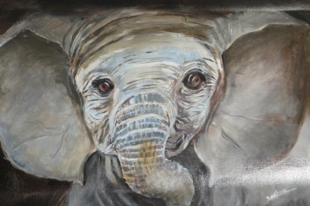 Baby Elephant | Painting by artist Sadhna Tiwari | acrylic | Canvas