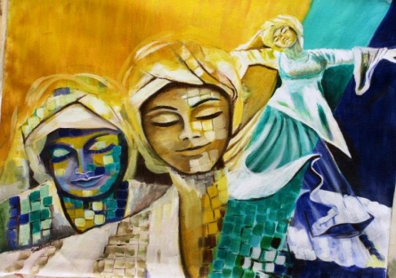 Divine Dance   Painting by artist Sadhna Tiwari   acrylic   Canvas