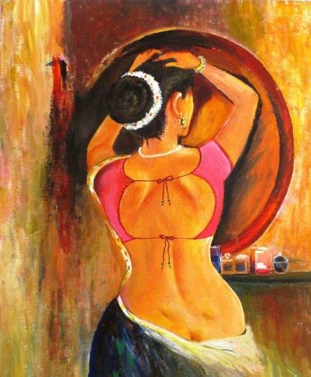 Devadasi | Painting by artist Sadhna Tiwari | acrylic | Canvas