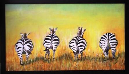 Zebra | Painting by artist Sadhna Tiwari | acrylic | Canvas