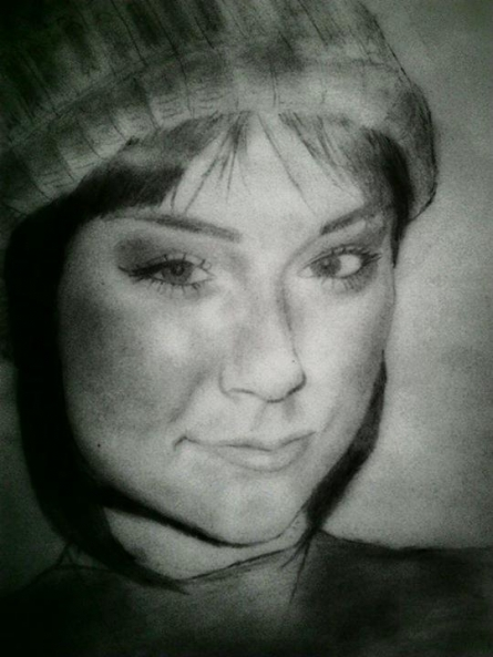 Portrait Pencil Art Drawing title Sasha Grey by artist Gaurav Rana