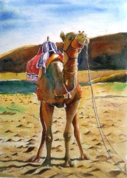 Rajasthan | Painting by artist Chetan Agrawal | watercolor | Handmade Paper