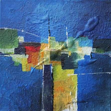 Remnant AM02 | Painting by artist Amrish Malvankar | mixed-media | Canvas