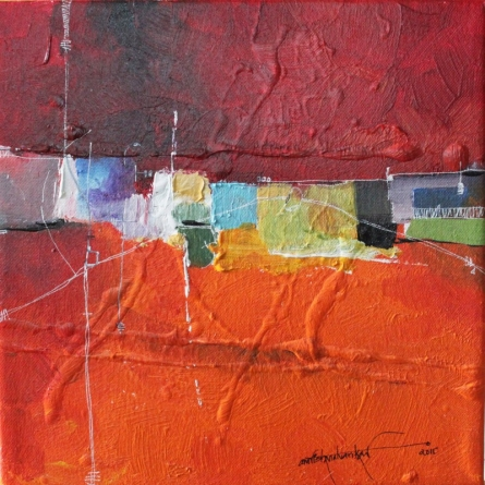 Remnant AM03 | Painting by artist Amrish Malvankar | mixed-media | Canvas