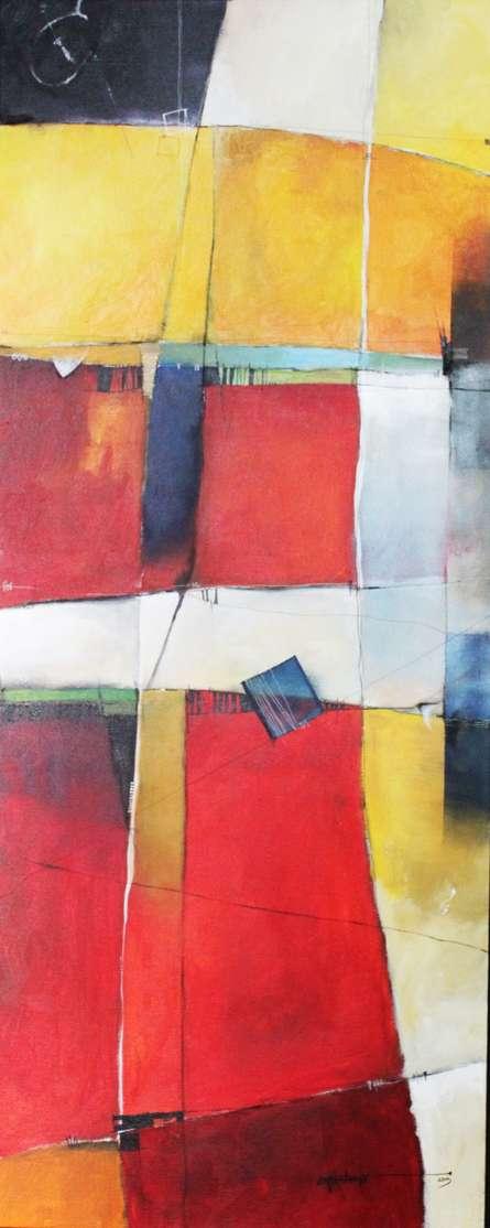 Remnant AM04 | Painting by artist Amrish Malvankar | mixed-media | Canvas