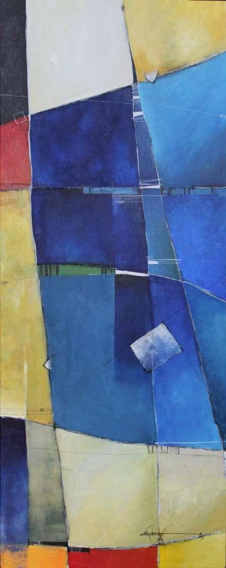 Remnant AM05 | Painting by artist Amrish Malvankar | mixed-media | Canvas