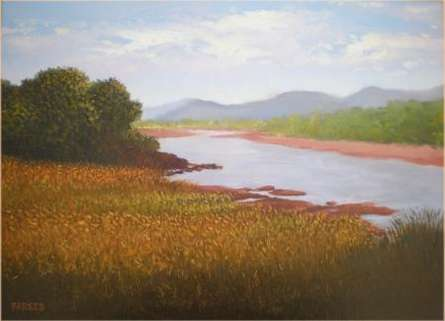 Farmer Paradise | Painting by artist Fareed Ahmed | oil | Canvas Board