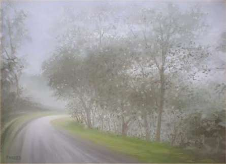 Nature Oil Art Painting title 'Monsoon Curve' by artist Fareed Ahmed