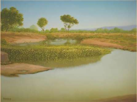 Fareed Ahmed | Oil Painting title Nature Beauty I on Canvas | Artist Fareed Ahmed Gallery | ArtZolo.com