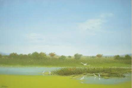Water View | Painting by artist Fareed Ahmed | oil | Canvas