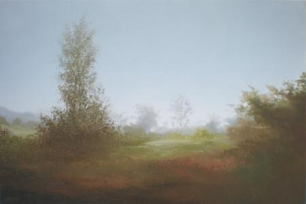Mountain View II | Painting by artist Fareed Ahmed | oil | Canvas