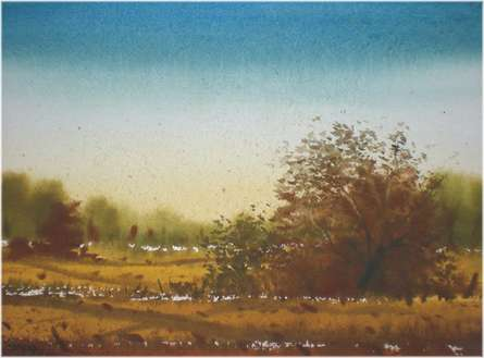 Summer | Painting by artist Fareed Ahmed | watercolor | Paper