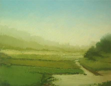 Landscape 3 | Painting by artist Fareed Ahmed | oil | Canvas Board