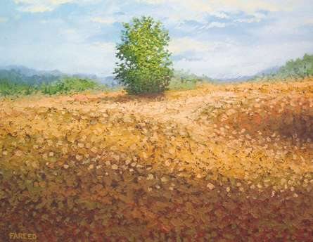 Bush | Painting by artist Fareed Ahmed | Oil | Canvas Board