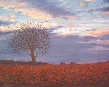 Good evening | Painting by artist Fareed Ahmed | oil | Canvas Board