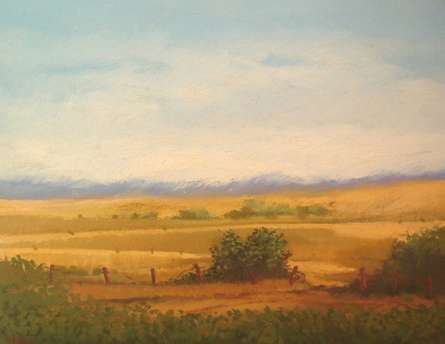 Landscape | Painting by artist Fareed Ahmed | oil | Canvas Board