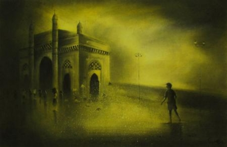 Somnath Bothe | Acrylic Painting title Gateway Of India 2 on Paper | Artist Somnath Bothe Gallery | ArtZolo.com