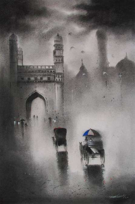 Charminar | Painting by artist Somnath Bothe | acrylic | Paper