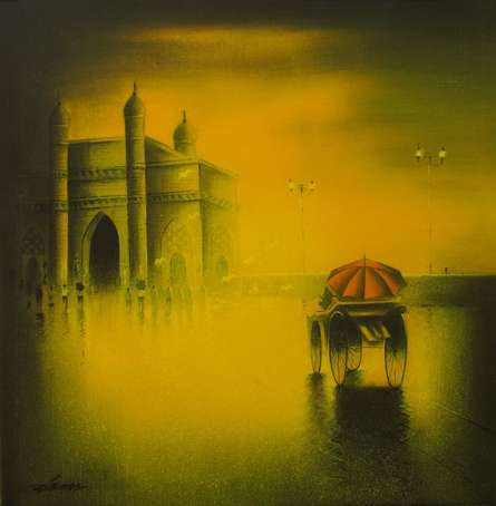 Gateway Of India | Painting by artist Somnath Bothe | acrylic | Canvas