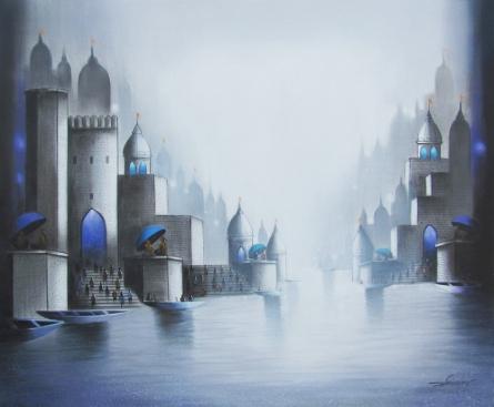 Holy Banaras 2 | Painting by artist Somnath Bothe | mixed-media | Canvas