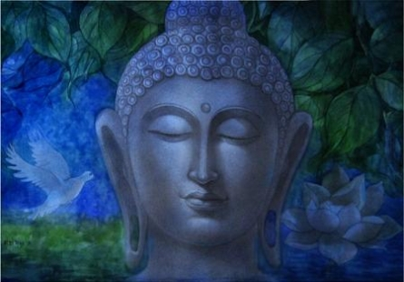 Buddha 6 | Painting by artist Rd Roy | watercolor | Paper