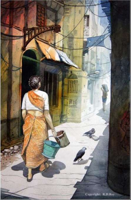 Midday Light 10 | Painting by artist RD Roy | watercolor | Paper