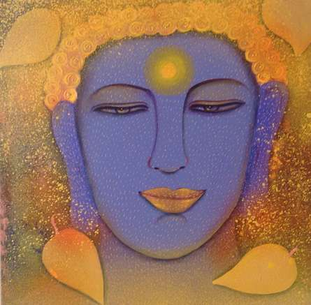 Buddha | Painting by artist Sadaf Beg Khan | acrylic | canvas