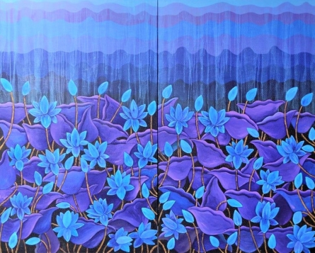 Nature Acrylic Art Painting title Untitled 2 by artist Sadaf Beg Khan